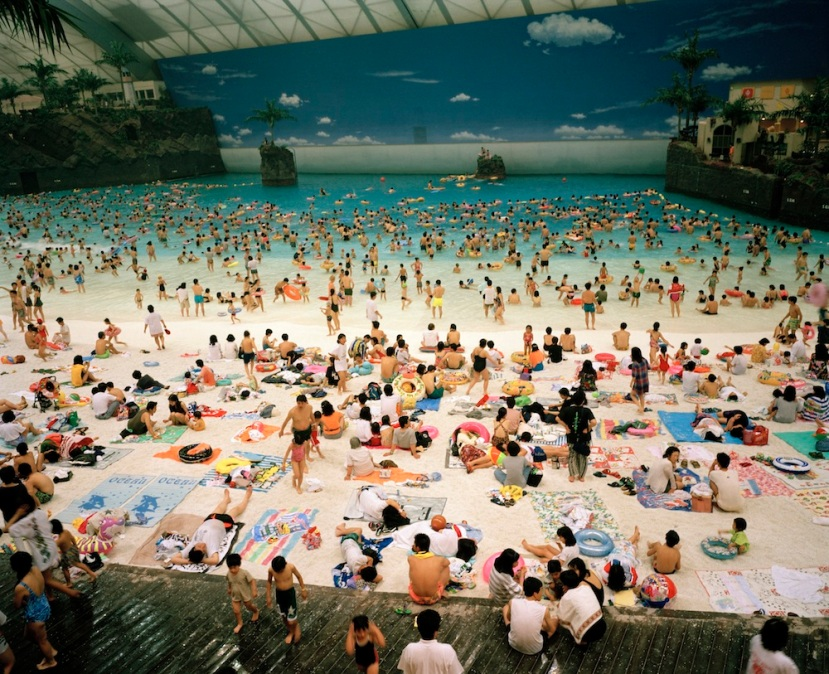 JAPAN. Miyazaki. The Artificial beach inside the Ocean Dome. 1996.