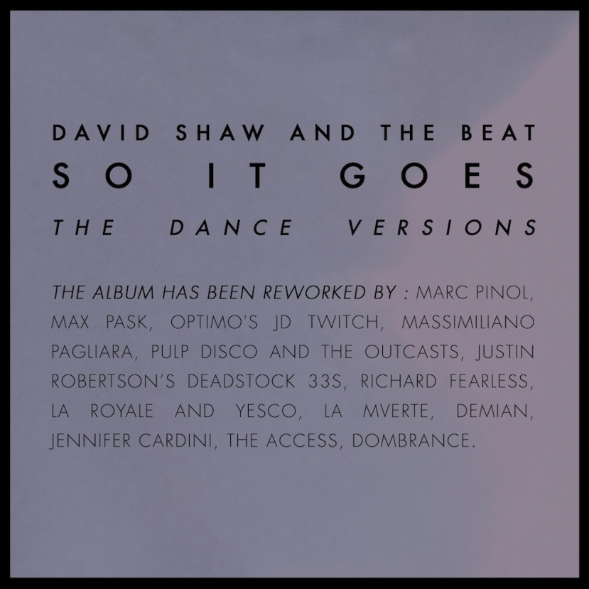 COVER - Davis Shaw and The Beat - So It Goes - The Dance Versions_web